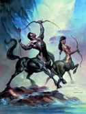 Sagittarius, by Boris Vallejo. Click for more Zodiac Images