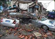 Crushed Cars in 2008 Sichuan Earthquake