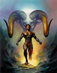 Aries, by Boris Vallejo. Click for more Zodiac Images