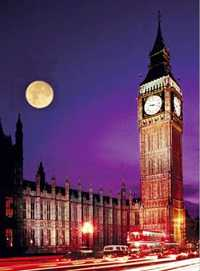 Moon over Westminster