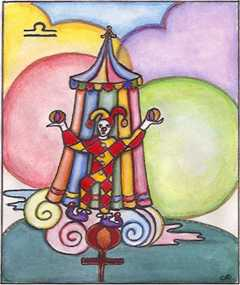 Libra, the Scales. Click for more on Libra