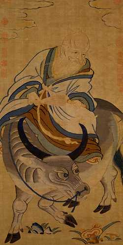 Lao Tzu riding an Ox