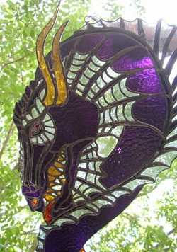 Dragon's Head Stained Glass by Glasworx. Click for more