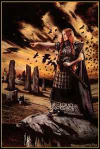 Celtic Goddess of War and Death, by Howard David Johnson