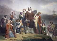 Landing of the Pilgrim Fathers, by Charles Lucey