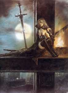 Full Moon by Luis Royo