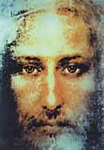 Jesus Christ of Turin, coloured by Sai Baba