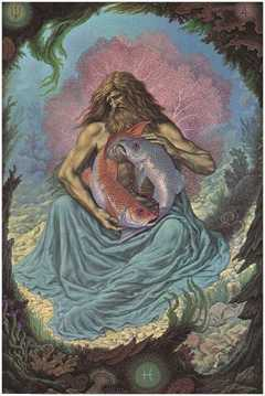 Pisces, the Fishes, by Johfra Bosschart. Click for more on Pisces