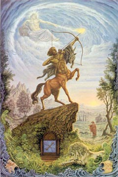 Sagittarius, the Archer, by Johfra Bosschart. Click for more on Sagittarius