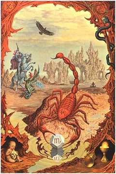 Scorpio, the Scorpion, by Johfra Bosschart. Click for more on Scorpio