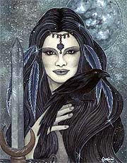 The Morrigan by Jessica Galbreth. Click for More