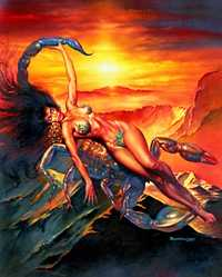Scorpio, by Boris Vallejo. Click for more Zodiac Images